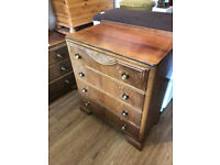 Vintage Chest of Drawers , with 4 good sized drawers . In good condition .