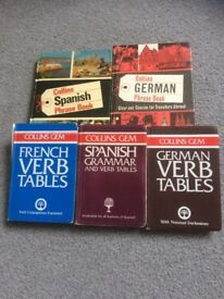 Languages Collins phrase book German/Spanish and Gem in German/Spanish/French £3 ono buyer collects