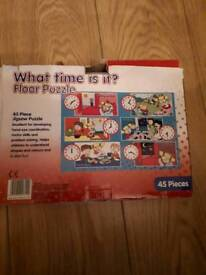 Kids Floor Puzzles x2 Tell the Time