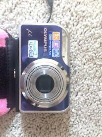 Olympus camera, charger, case and 2gb XD card