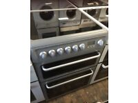 60cm Silver HOTPOINT double oven ceramic top £200 can deliver