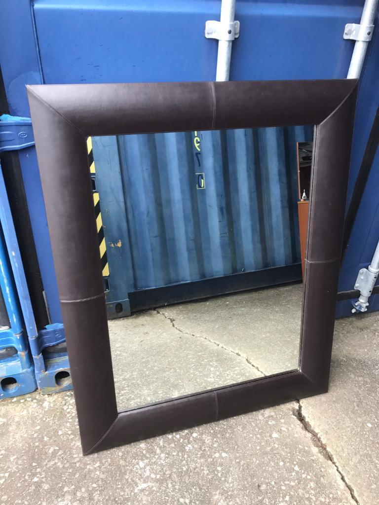 Faux leather mirror FREE DELIVERY PLYMOUTH AREA