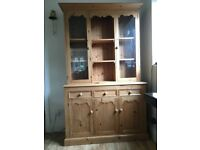 Vintage Hand Made Waxed Pine Glazed Dresser