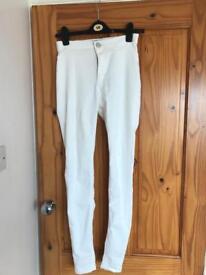 Women's White Skinny Jeans