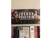 Anthony Joshua pitch tickets x 2