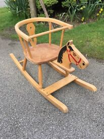 Old Pine Rocking Horse - Suite child between 1-2 yrs.