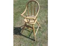 Baby's high chair wooden