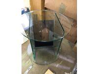 Greenapple glass magazine table