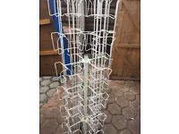 Revolving greeting card holder