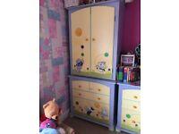Children's/ nursery complete matching bedroom set.