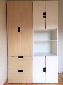 IKEA Kid's Double Wardrobe STUVA - White/birch