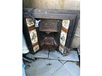 Victorian Style Fire Place with Tiles - Antique