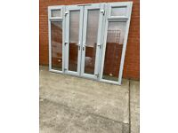 Upvc French doors ideal for summerhouse 94x81 and 55x81 inches £1200