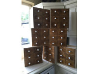 7 x Ikea Mini chest of drawers / MOPPE Birch plywood