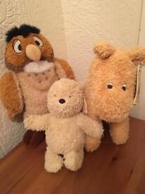 Pooh bear tigger and owl soft toys
