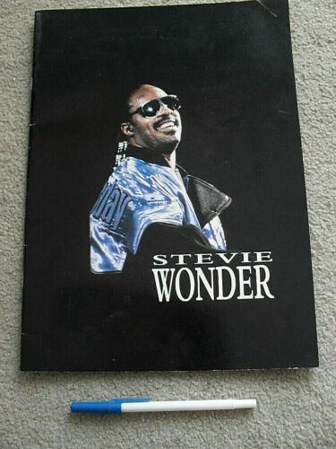 Stevie Wonder Tour Program Australian NZ Official Vintage Retro Soul R&B music
