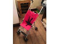 Hauck Red Lightweight Umbrella Fold Stroller/Pushchair/Buggy