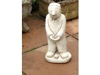 Lovely solid stone balls man statue