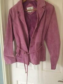 Suede jacket size 12