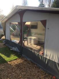Caravan awning 900 with 2 annexes