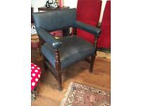 Large Solid Oak 1920's Throne Chair