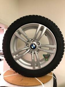 BMW X1 WINTER TIRE PACKAGE REPLICA ALLOY WHEELS AND 225/50R17 SNOW TIRES BRAND NEW!