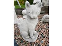 Concrete Cat Garden Ornament