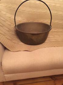 Antique brass jelly pan