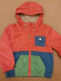 M&S Indigo lined rain coat 3-4 years