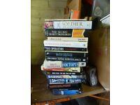 job lot bulk collection car boot various hard and paperback WAR BOOKS