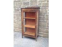 Solid Wood and Glass Display Cabinet - ideal for upcycling