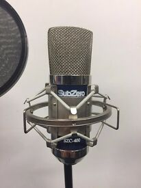 Sub-Zero Condenser Microphone Kit. Inc stand, and wind filter