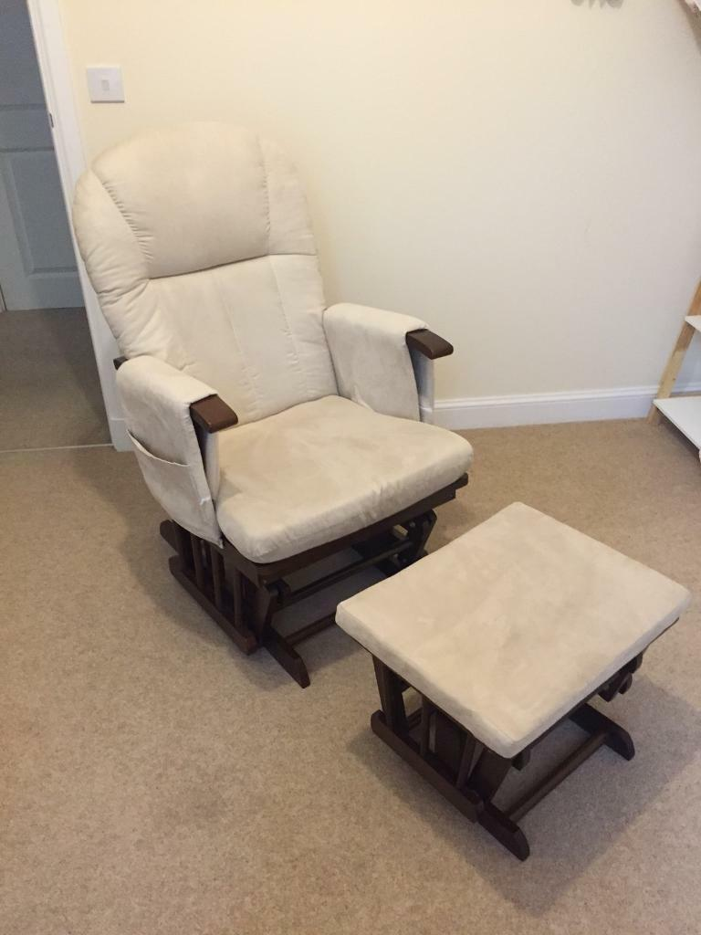 Mothercare baby breastfeeding glider chair and stool & Mothercare baby breastfeeding glider chair and stool | in Ellon ...