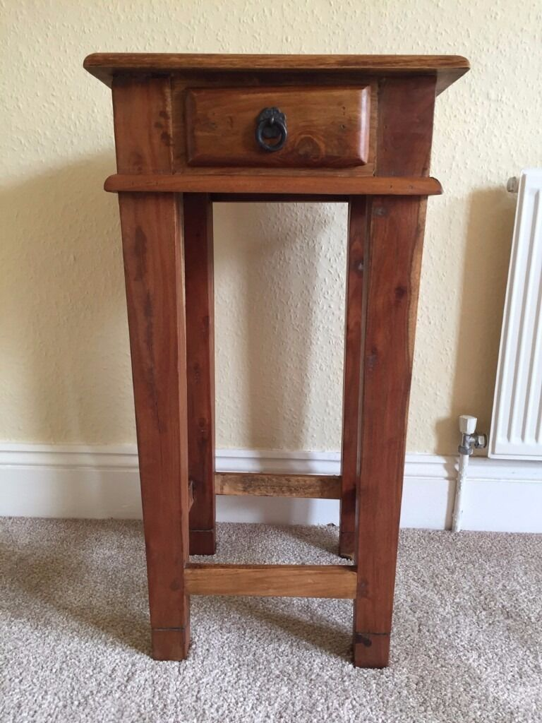 Elegant Side Table/Telephone Table/Corner Table In Indian Wood, With Small  Drawer