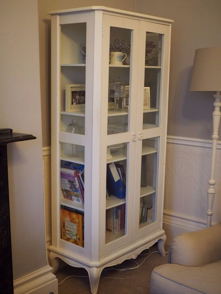 Barker And Stonehouse Shabby Chic Tall Glass Cabinet