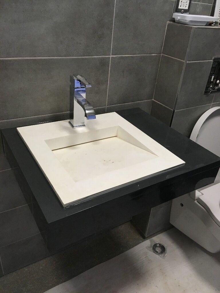 Beautiful Sq M Packs Spares Buq Konkrete Urban Grey Matt Ceramic Wall Tiles Xcm With Bq Bathroom