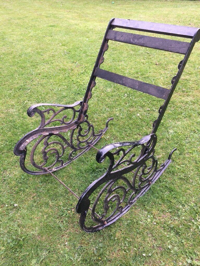 Vintage Cast Iron Rocking Chair