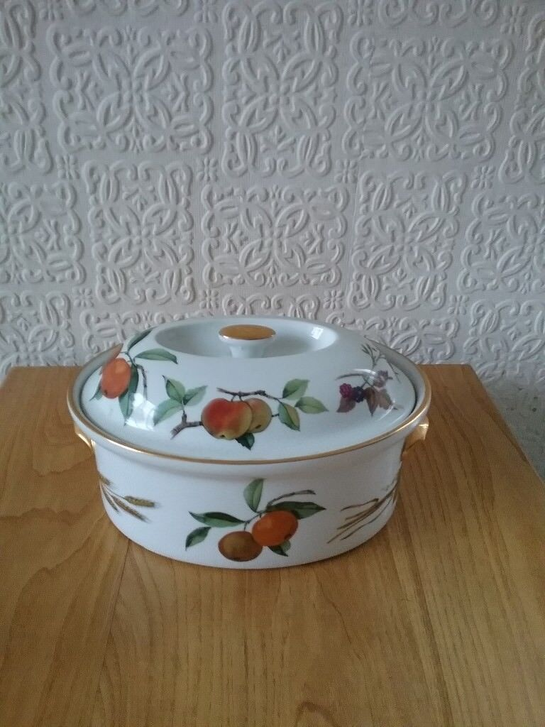 Attrayant Royal Worcester C1961 Evesham Collection Casserole With Lid (oven To  Tableware)