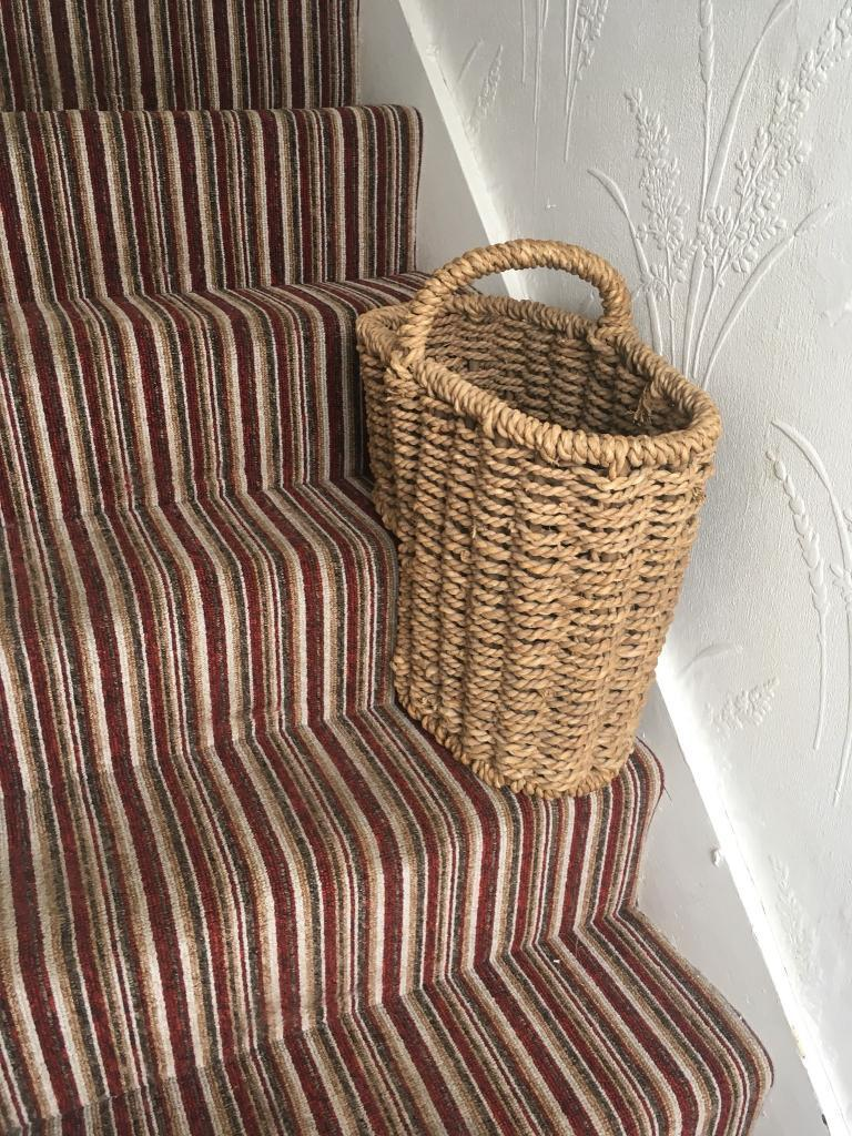 Stairs Wicker Basket