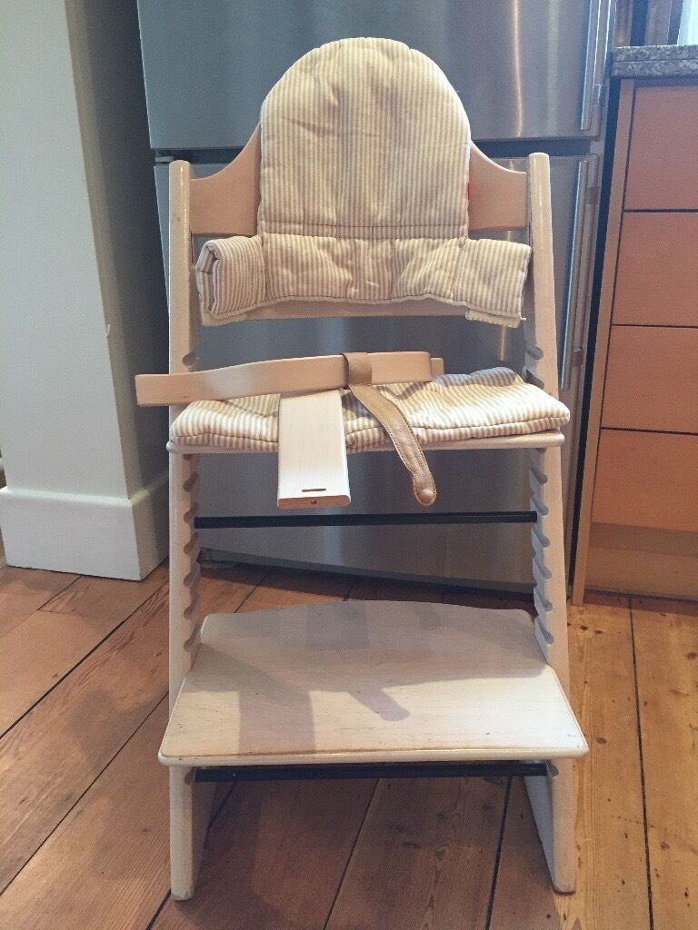 stokke tripp trapp high chair and baby set with cushion