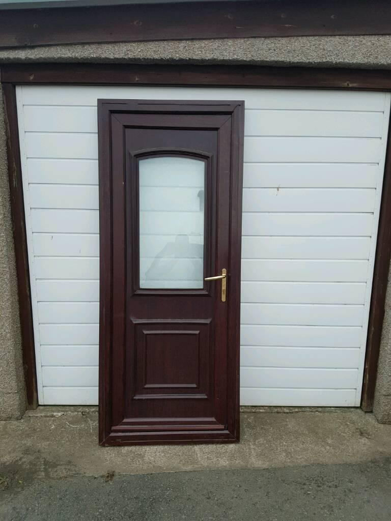 Upvc door brown garage shed front or back door & Upvc door brown garage shed front or back door | in Kirkcaldy Fife ...