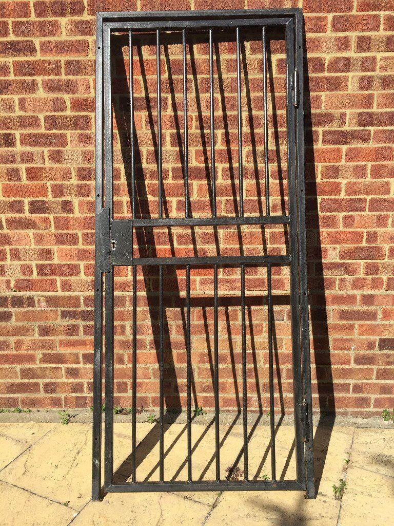 WROUGHT IRON GATE / SECURITY GRILL DOOR / STEEL GATE / METAL GARDEN SIDE  GATE