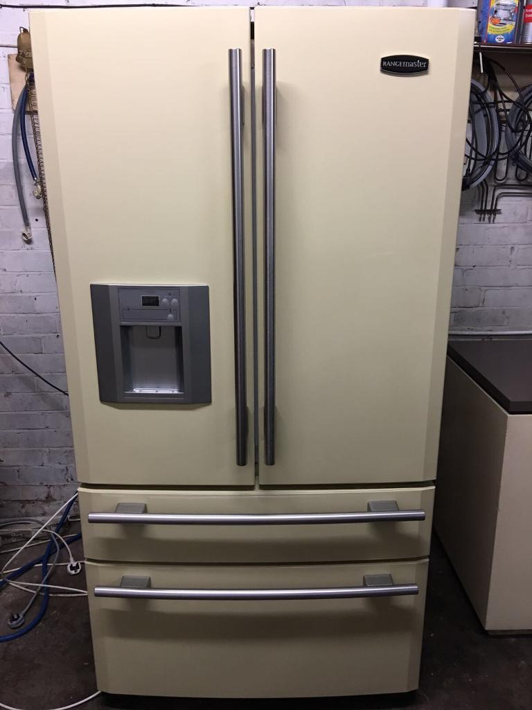 American Fridge Freezer Part - 21: Aga DXD910 American Fridge Freezer Cream Rangemaster