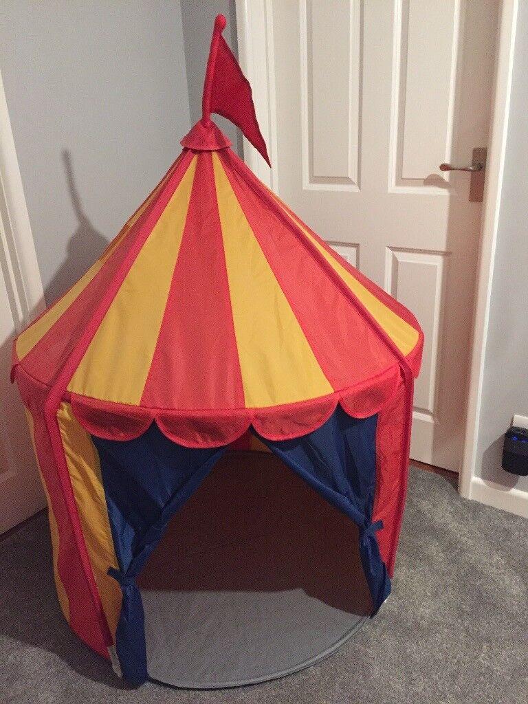 Childrenu0027s Red u0026 Yellow Circus Themed Play Tent (Ikea) & Childrenu0027s Red u0026 Yellow Circus Themed Play Tent (Ikea) | in ...