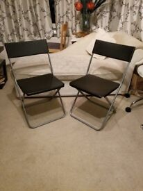Plastic Lawn Chair Pair, Perfect Condition