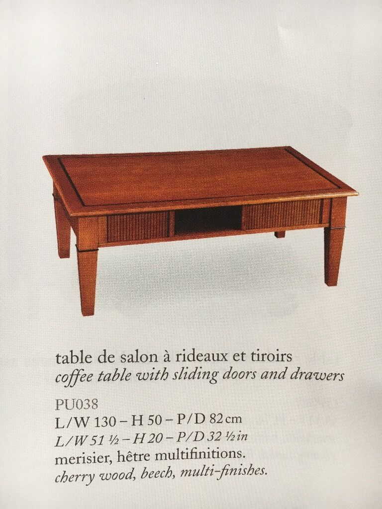 French Cherrywood Coffee Table (large) By Grange Of France