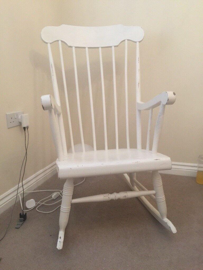 White Shabby Chic Rocking Chair