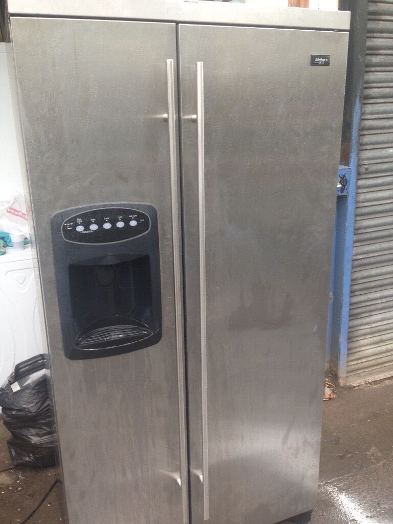 Cheap American Fridge Part - 22: Stainless Steel American Fridge Freezer.....Cheap Free Delivery
