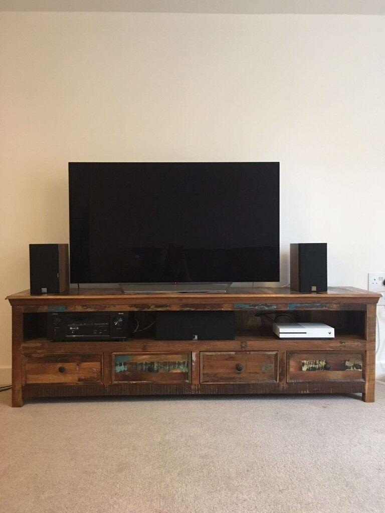 Large Reclaimed Wood TV Unit