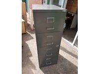 4 Drawer Metal Filing Cabinet Older Vintage Style 4 Drawer Filing Cabinet